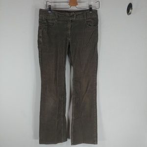 H&M brown corduroy pants size 10 straight